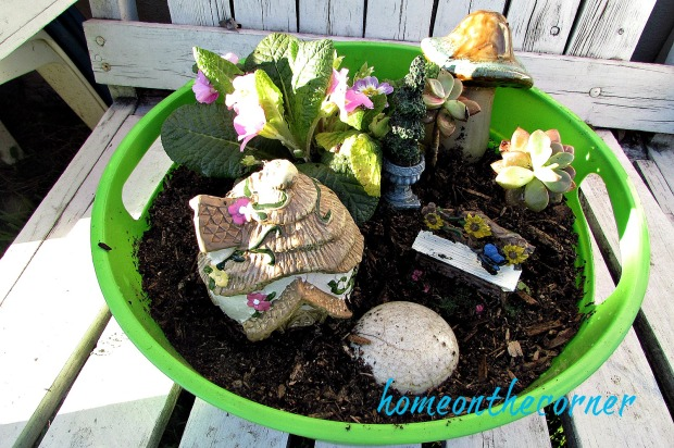 My Simple Fairy Garden from the Dollar Tree – HOME ON THE CORNER