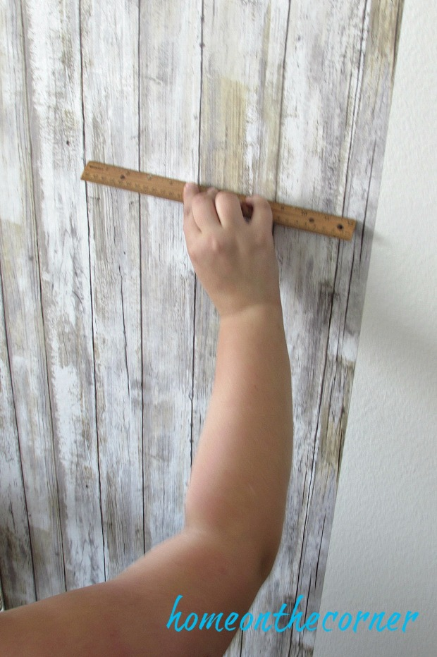 barn wood wallpaper ruler