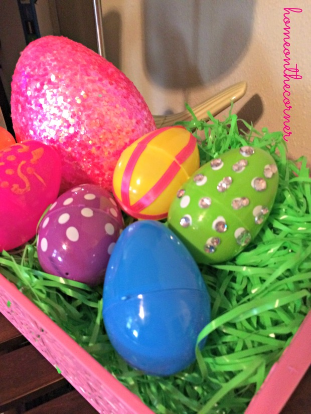 Easter Egg Basket Close Up