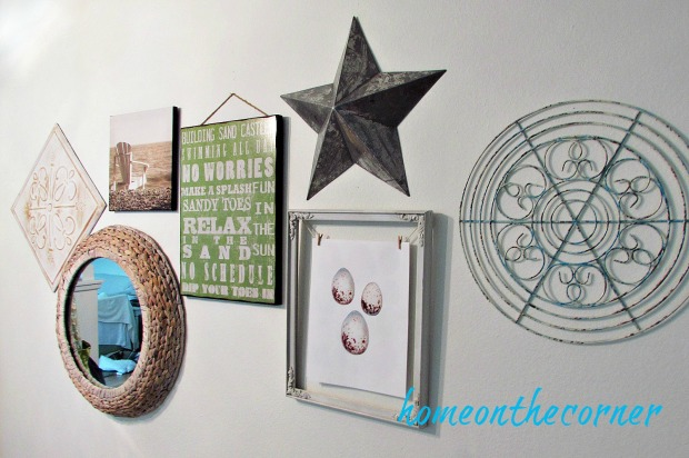 gallery wall pictures, star, eggs
