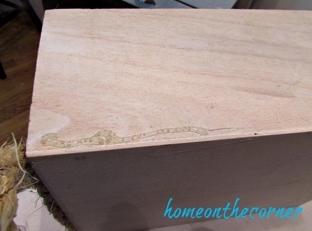 wooden box flower box