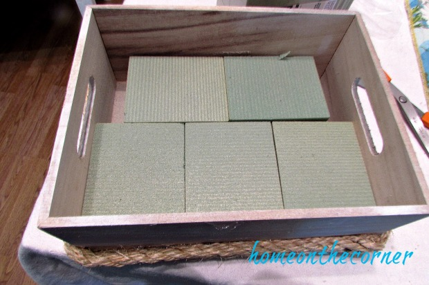 wooden flower box styrofoam