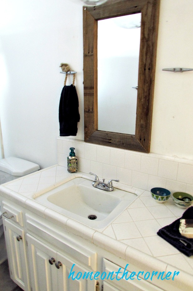 hallway bathroom makeover farmhouse beach