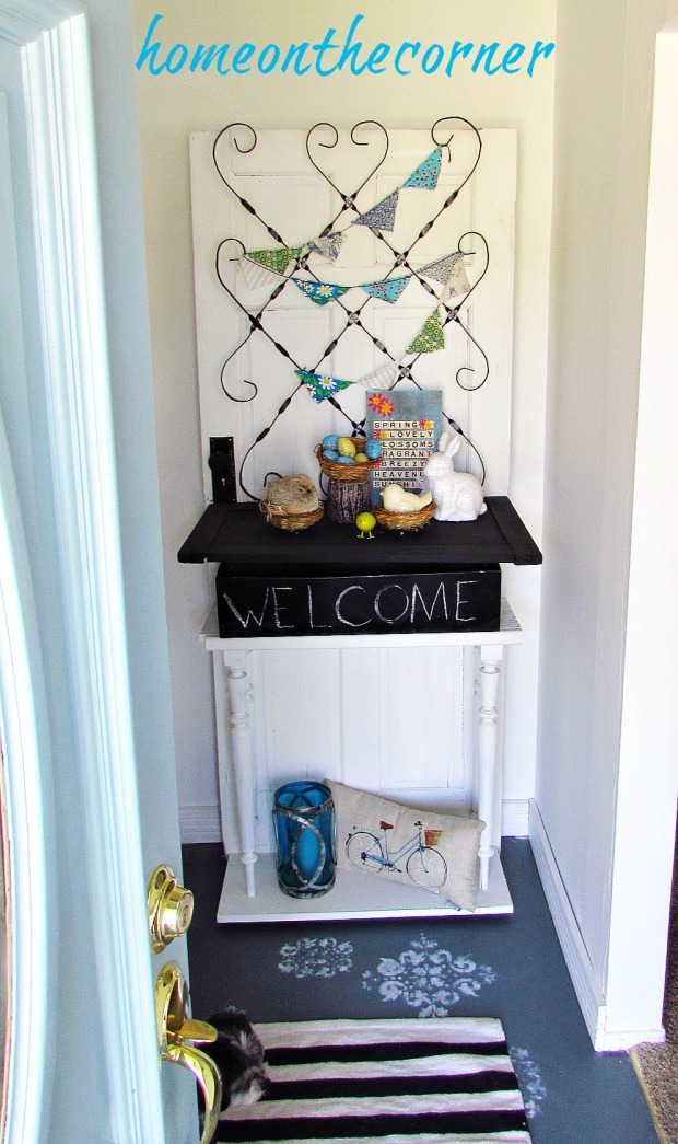 painted entryway decor