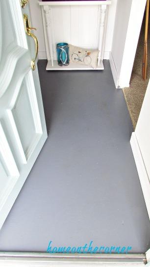 painted floor in the entryway
