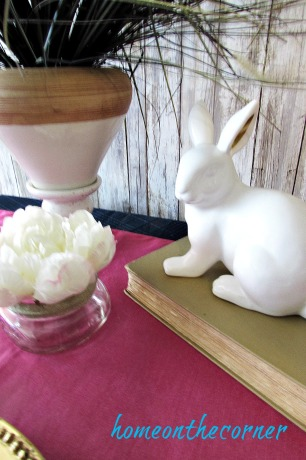 tablescapes 2017 bunny, flower, plant pink