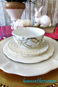 tablescapes 2017 gold and white spring
