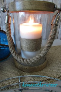 tablescapes 2017 nautical rope candle