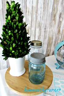 tablescapes 2017 turquoise and grey mason jar