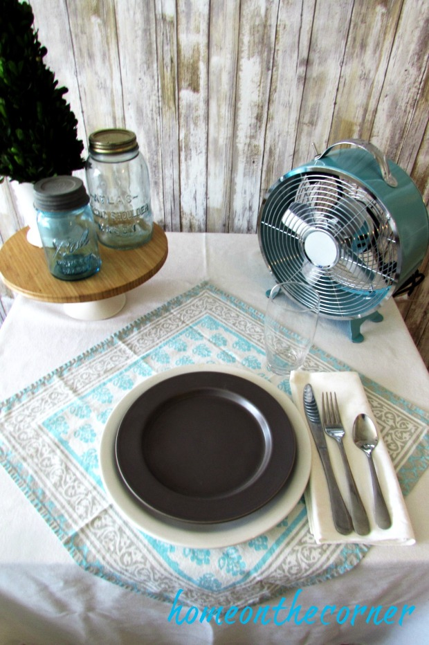 tablescapes 2017 turquoise and grey