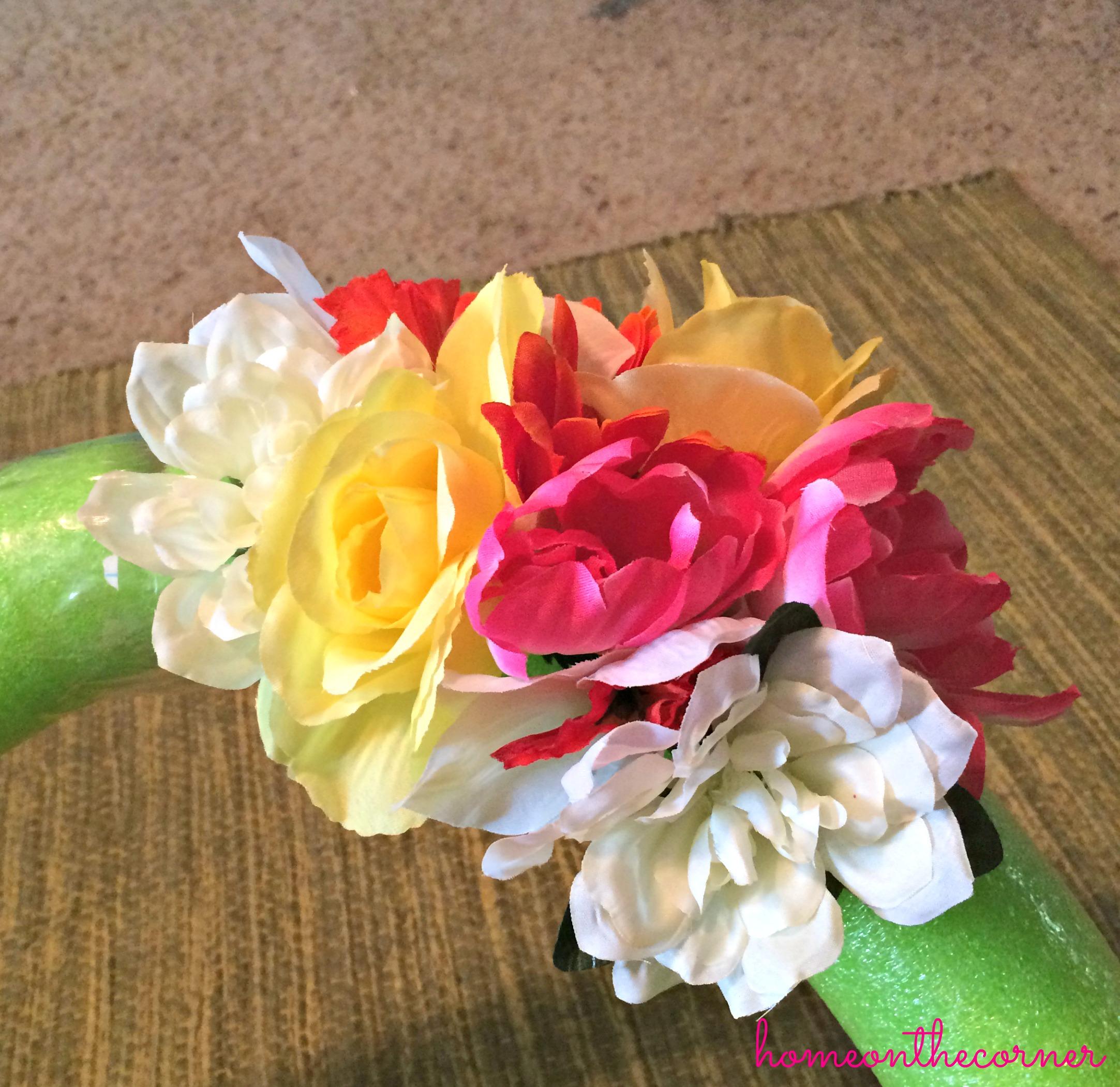 Flower Wreath Flower Placement