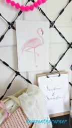 Pink Flamingo printable, sunshine and summertime