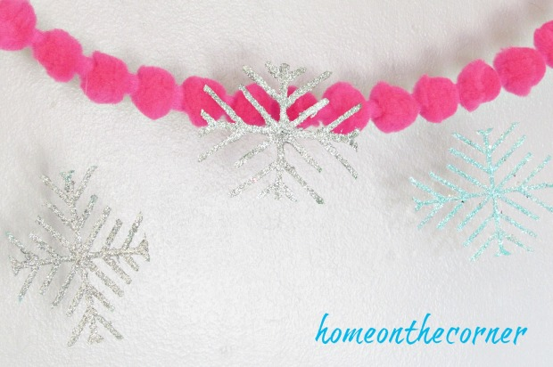 strawberry basket snowflake glitter