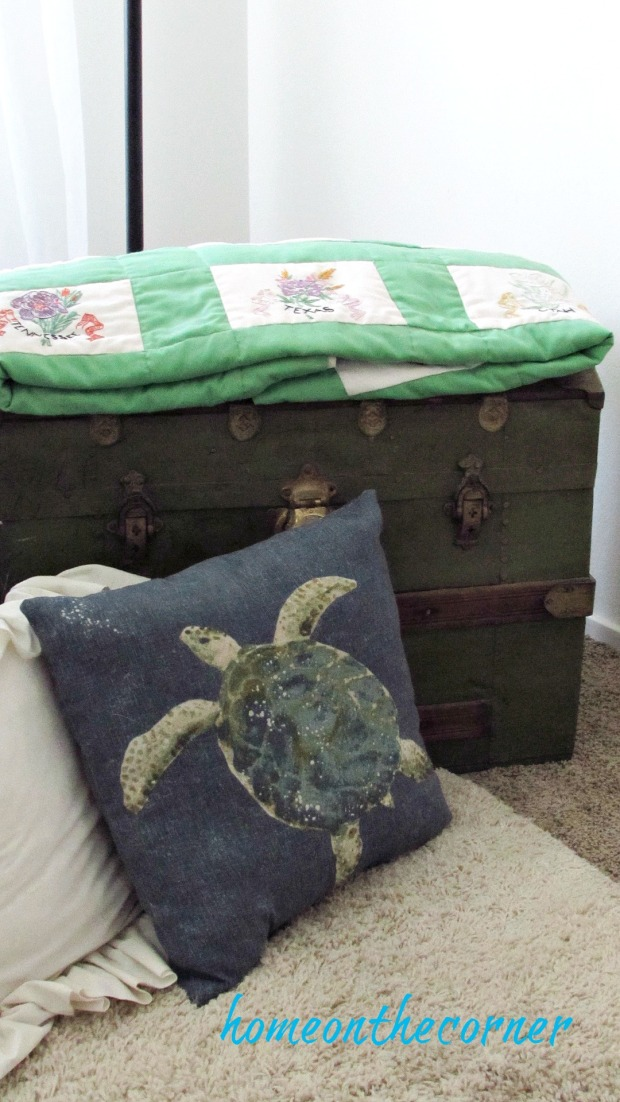 great grandma trunk green wooden