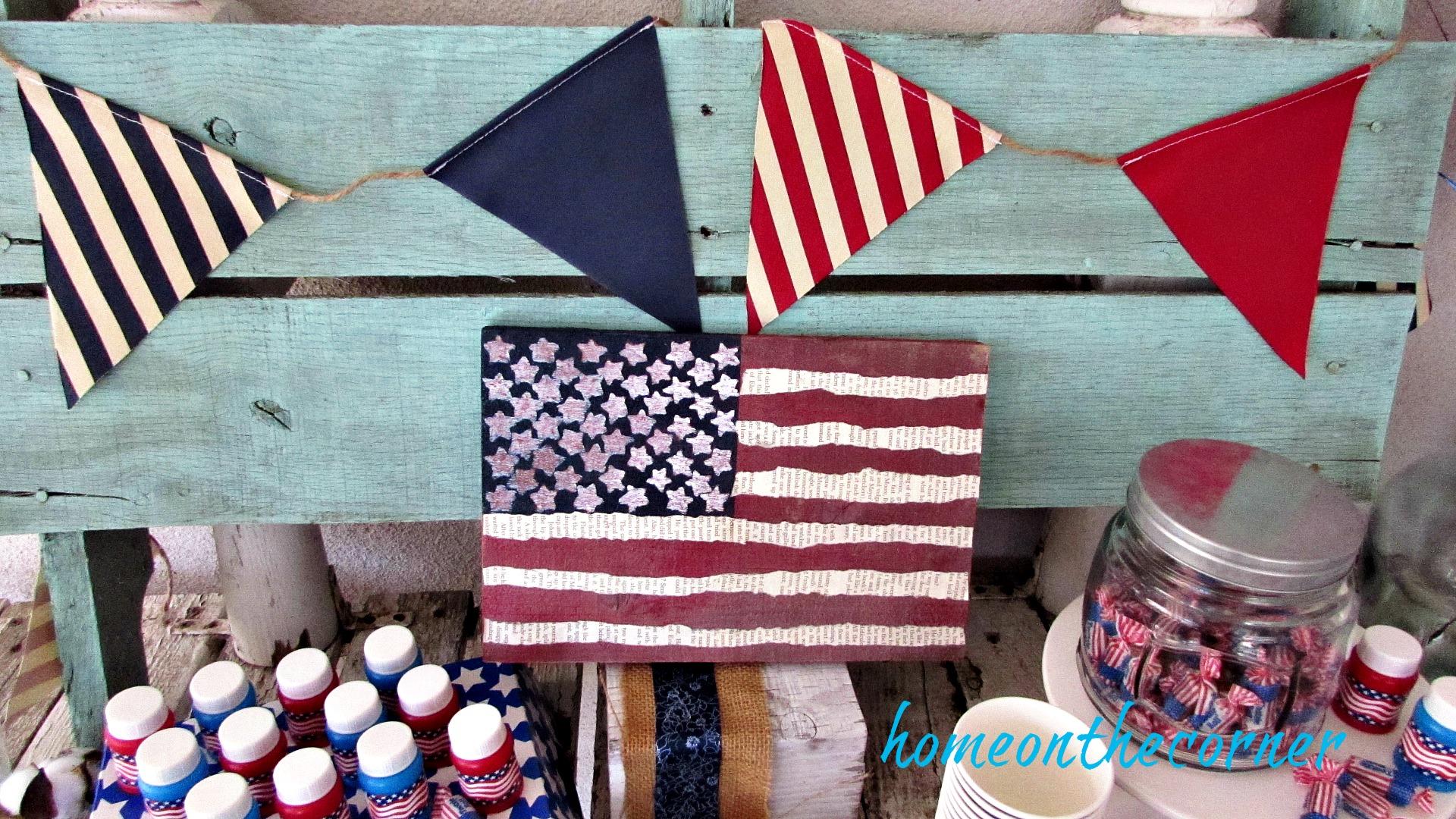 patriotic banner flags diy flag