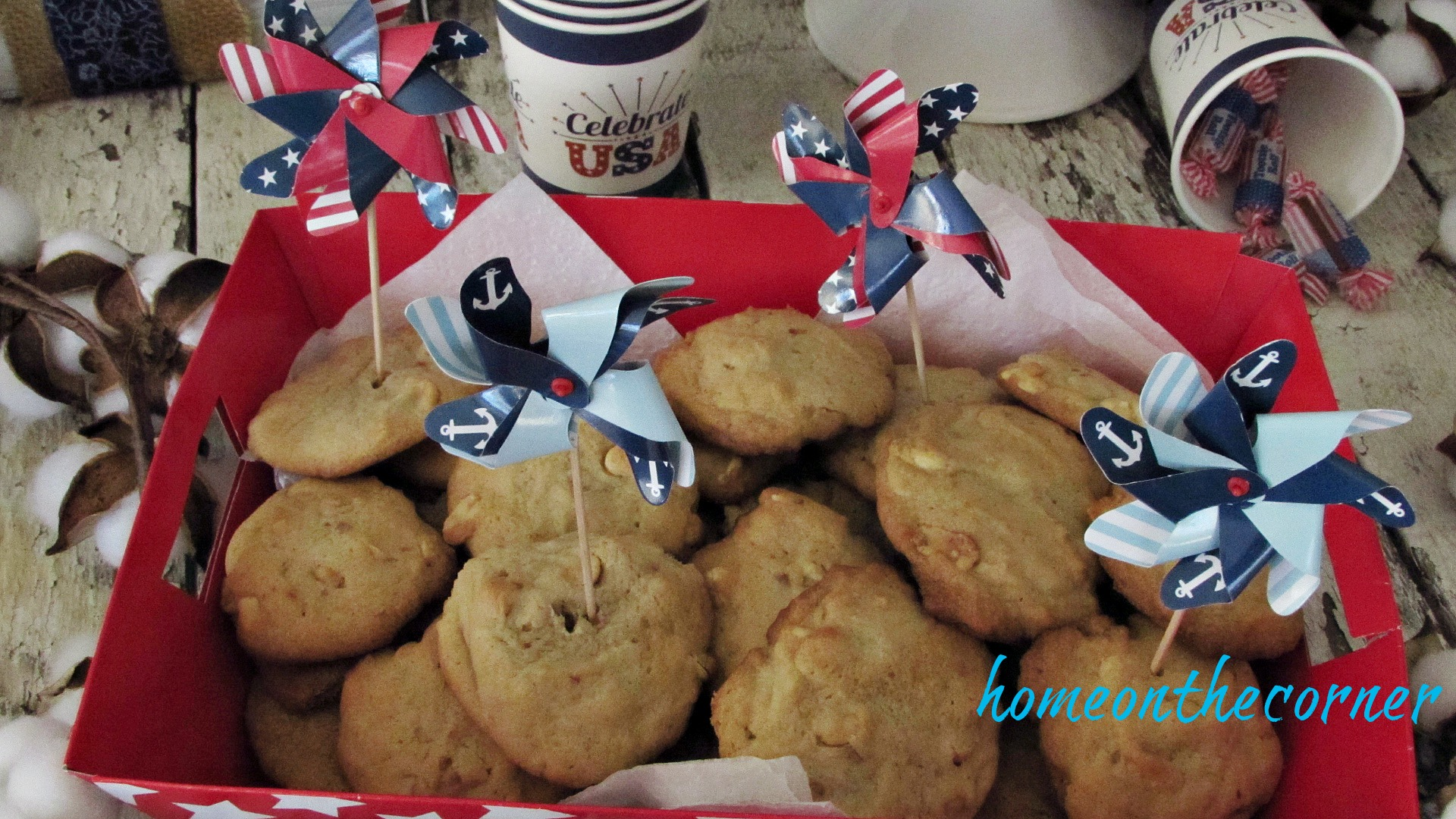 patriotic cookies with pinwheels