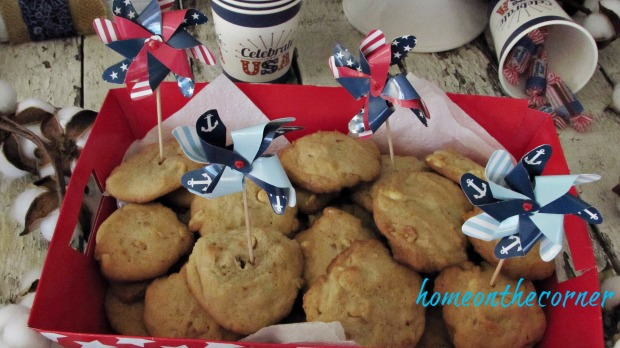 patriotic cookies with pinwheels
