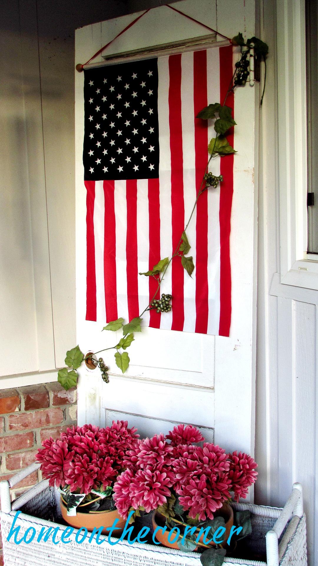 patriotic porch door flag