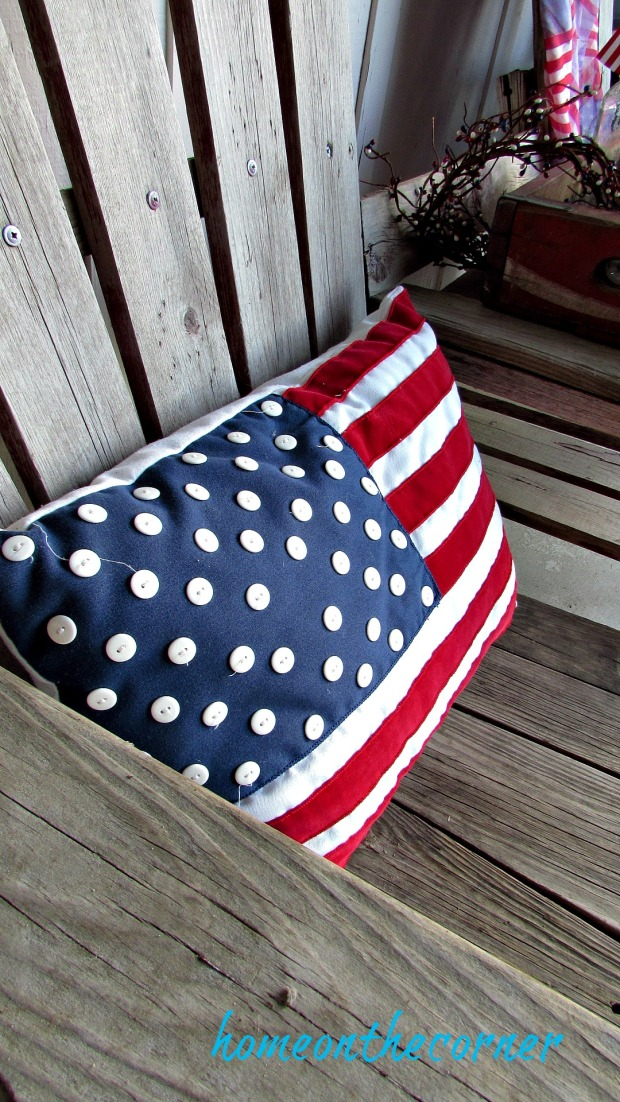 patriotic porch flag pillow