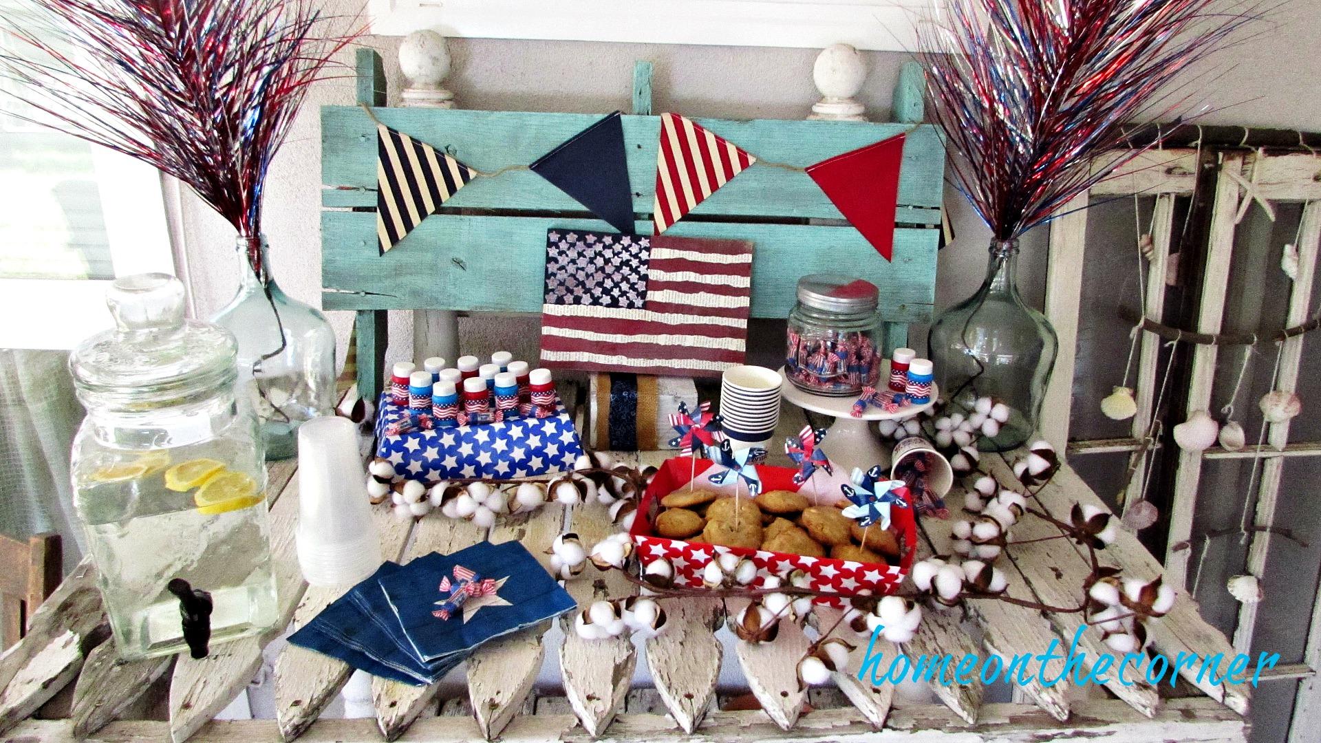 patriotic snack table oriental trading