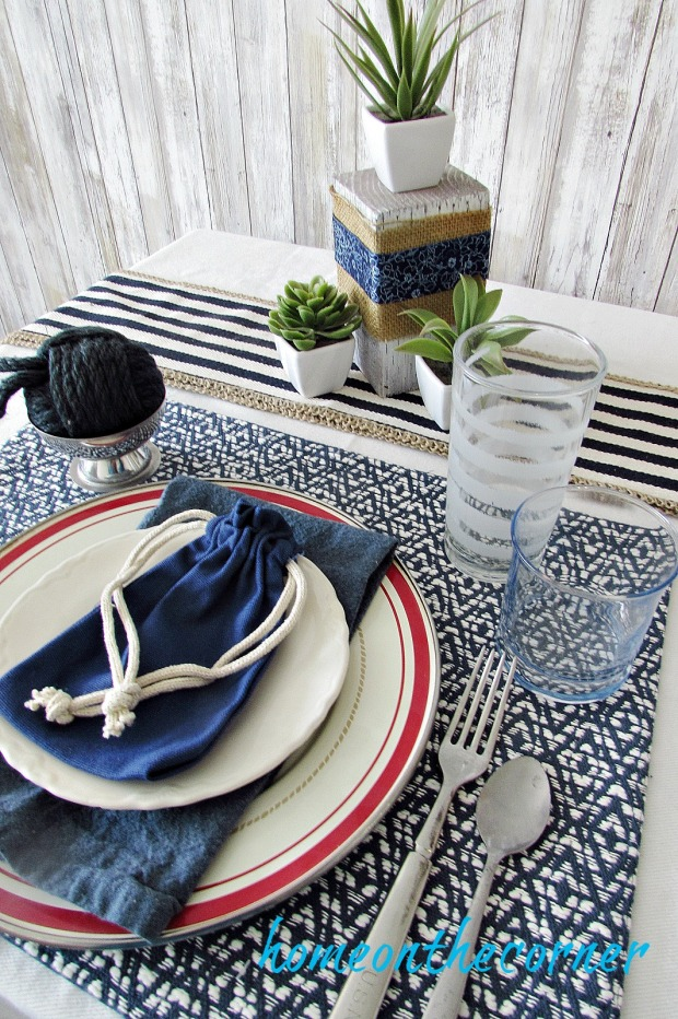tablescapes 2017 white and blue with succulents