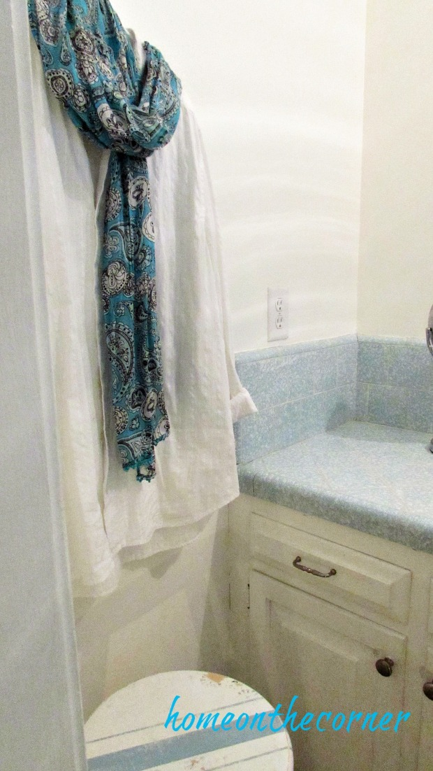 master bathroom blue, white and grey turquoise
