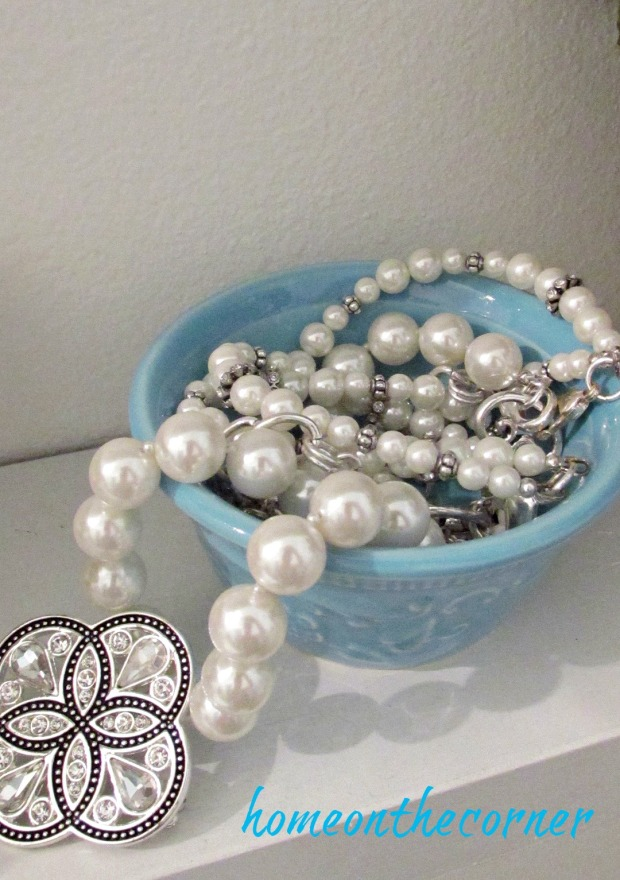 master bathroom makeover pearl necklace