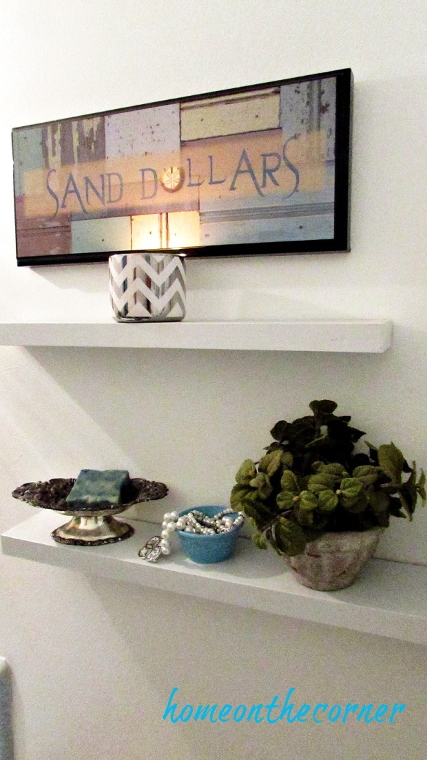 master bathroom makeover sand dollars
