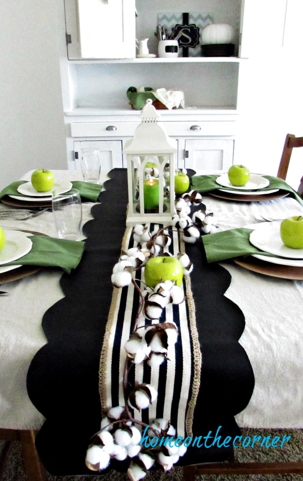 Fall Dining Room Green And Black 2017