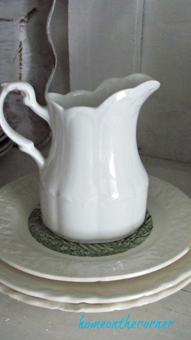fall dining room white pitcher