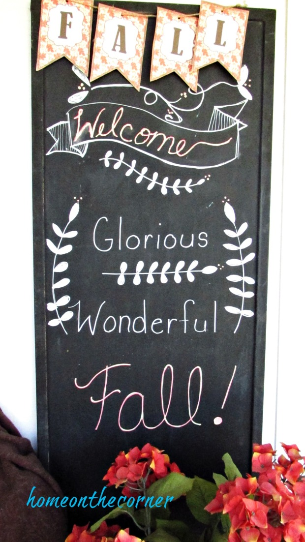 fall porch 2017 welcome chalkboard