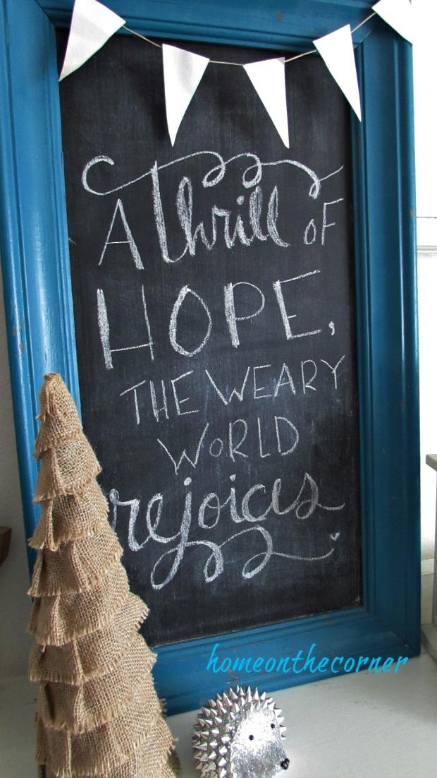 christmas 2017 beach decor chalkboard a thrill of hope