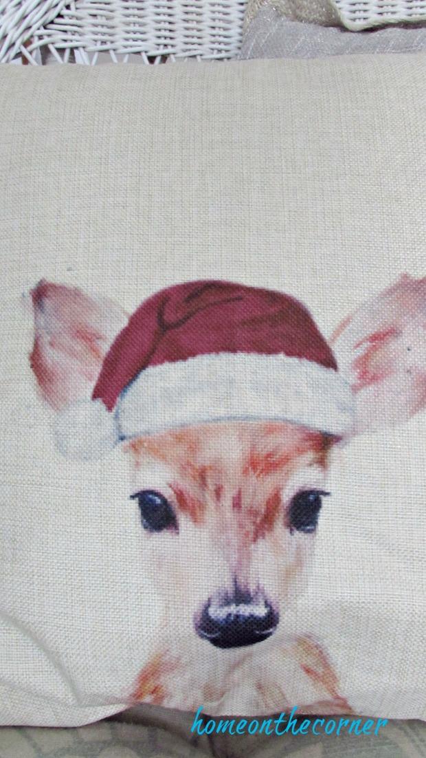 christmas 2017 beachy decor deer pillow