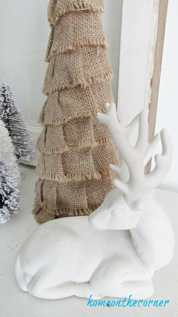 christmas 2017 burlap tree white deer beach decor