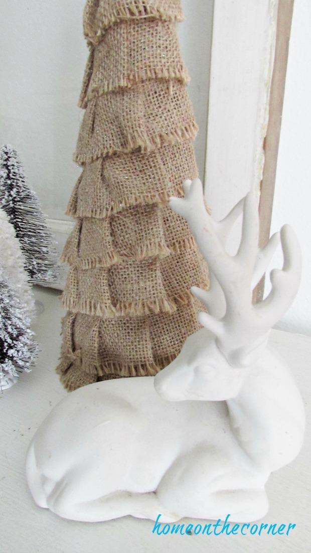 christmas 2017 burlap tree white deer beach decor