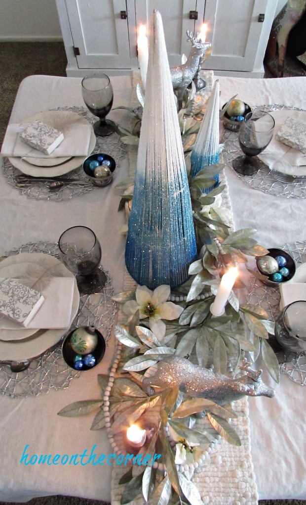 christmas 2017 dining room table centerpiece