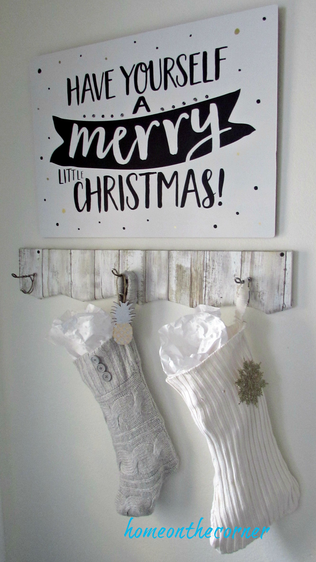 christmas 2017 entryway sweater stockings