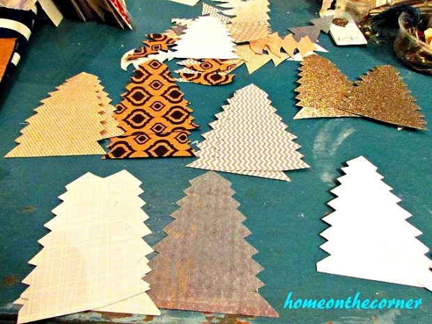 Christmas Tree Garland Cutout Trees 2017