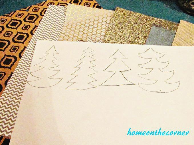 Christmas Tree Garland Sketches 2017