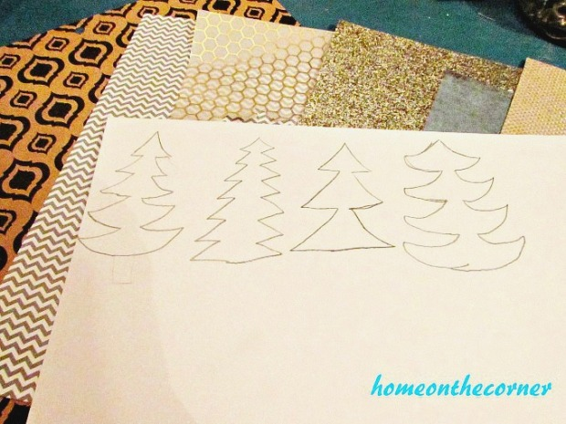 Christmas Tree Garland Sketches 2017