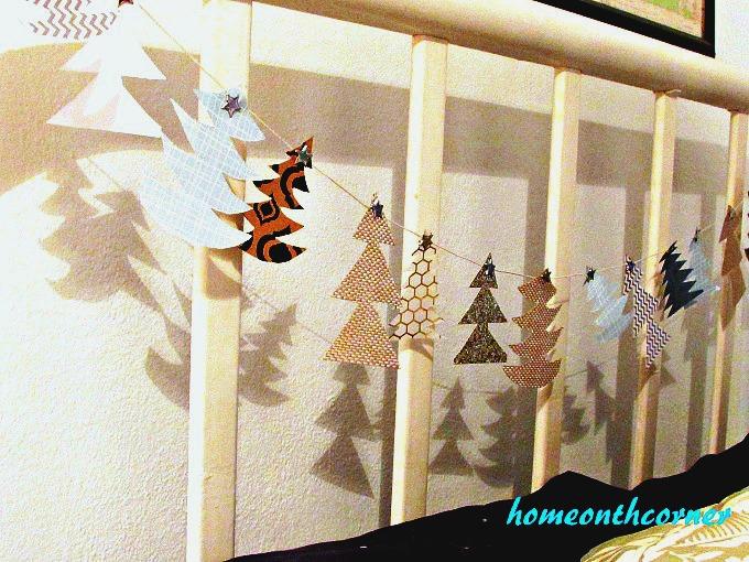 Christmas Tree Garland Wonky Trees Headboard 2017