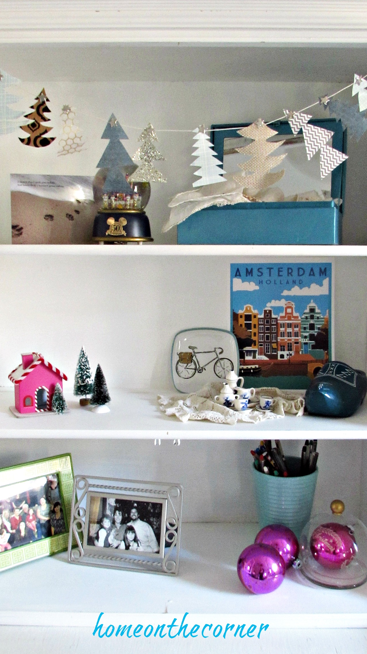 Christmas in the guest room cupboard