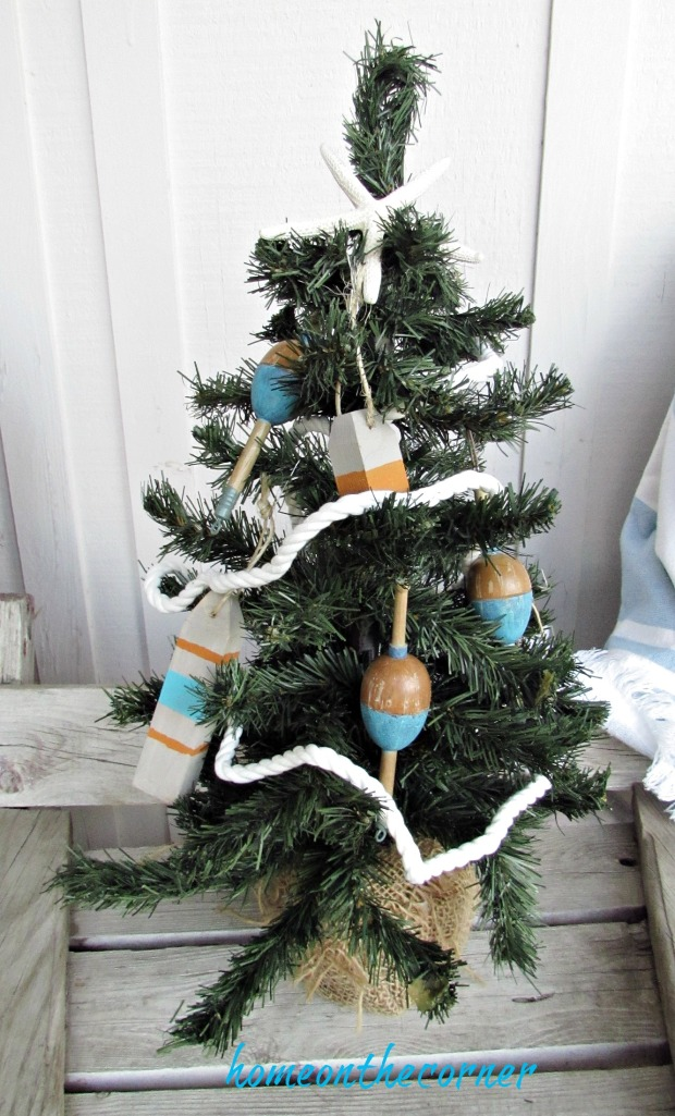 Christmas Wooden Buoy Ornament