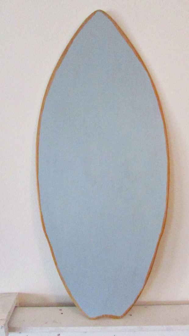 surfboard makeover blue background