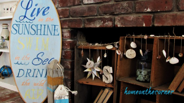surfboard makeover coastal vignette
