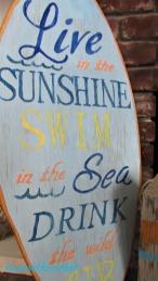 surfboard makeover live, swim, drink