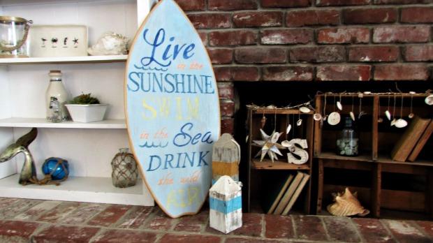 surfboard makeover swim in the sea