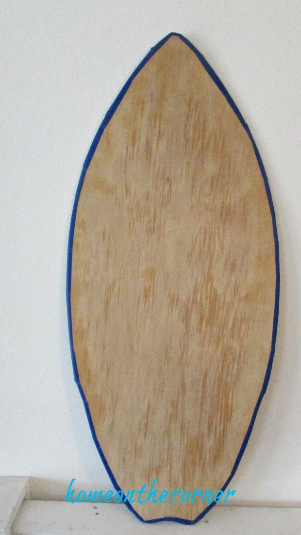 surfboard makeover taped edge