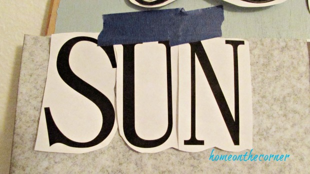 surfboard makeover transfer paper letters