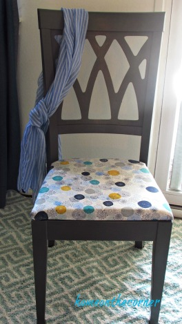 desk chair makeover grey and turquoise